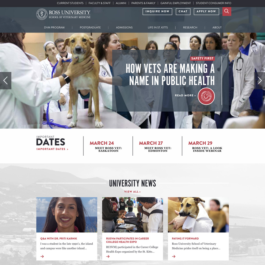 Image associated with Ross University School of Veterinary Medicine